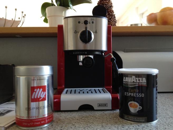 Und zwei Espresso-Sorten stehen auch bereit ...